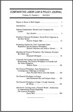 Comparative Labor Law & Policy Journal