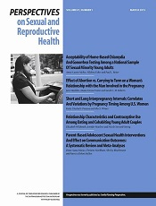 Perspectives on Sexual and Reproductive Health
